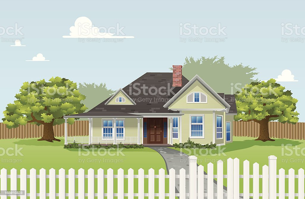 Dream Home vector art illustration