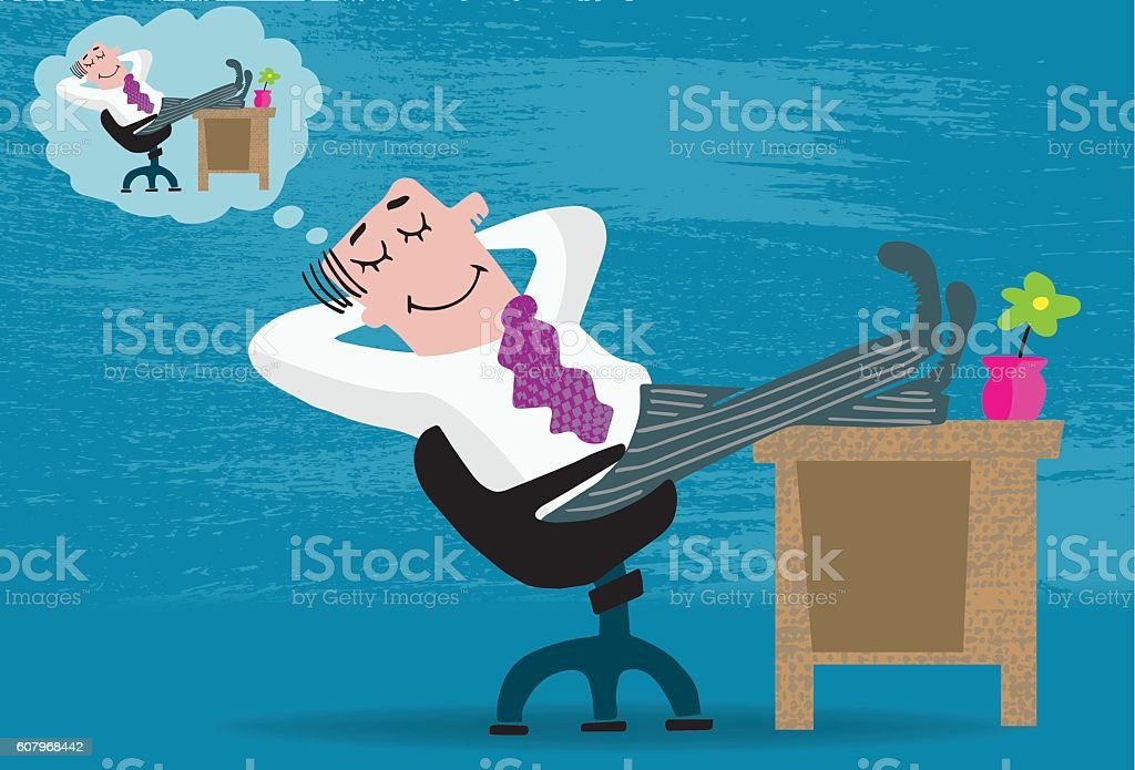 Dream Job vector art illustration