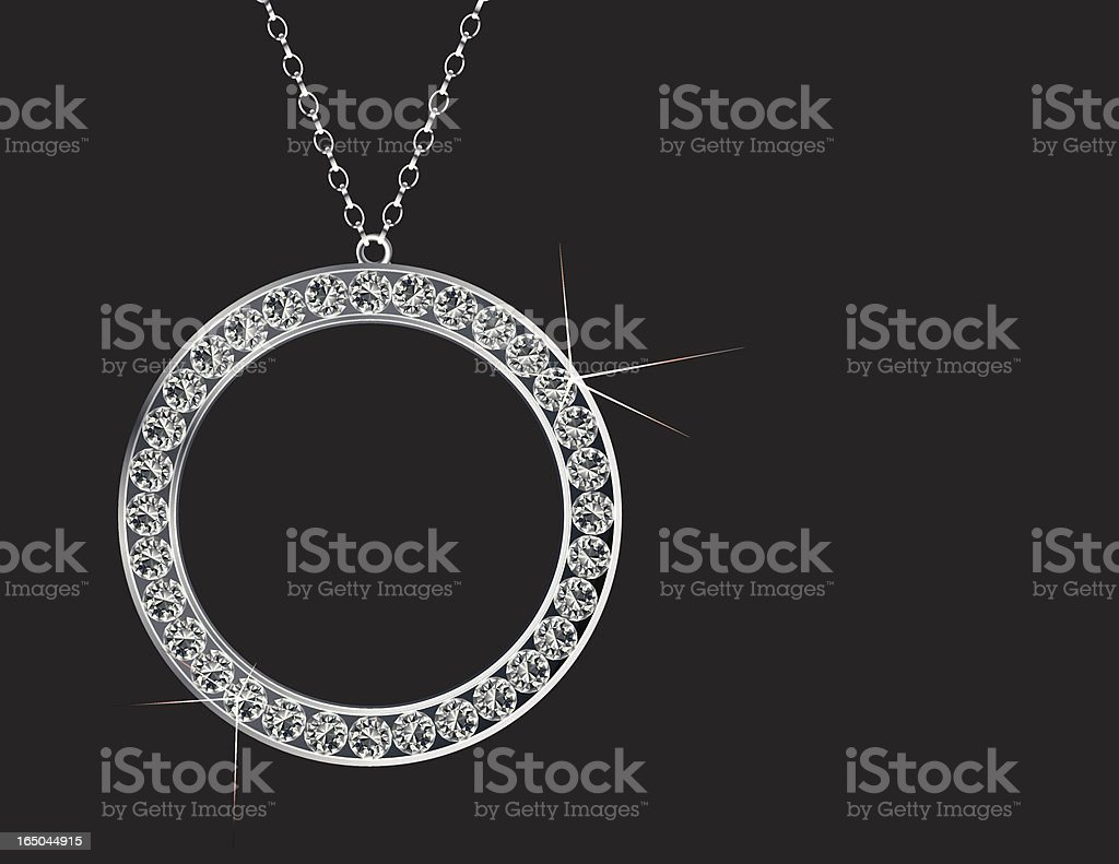 Dream Necklace vector art illustration