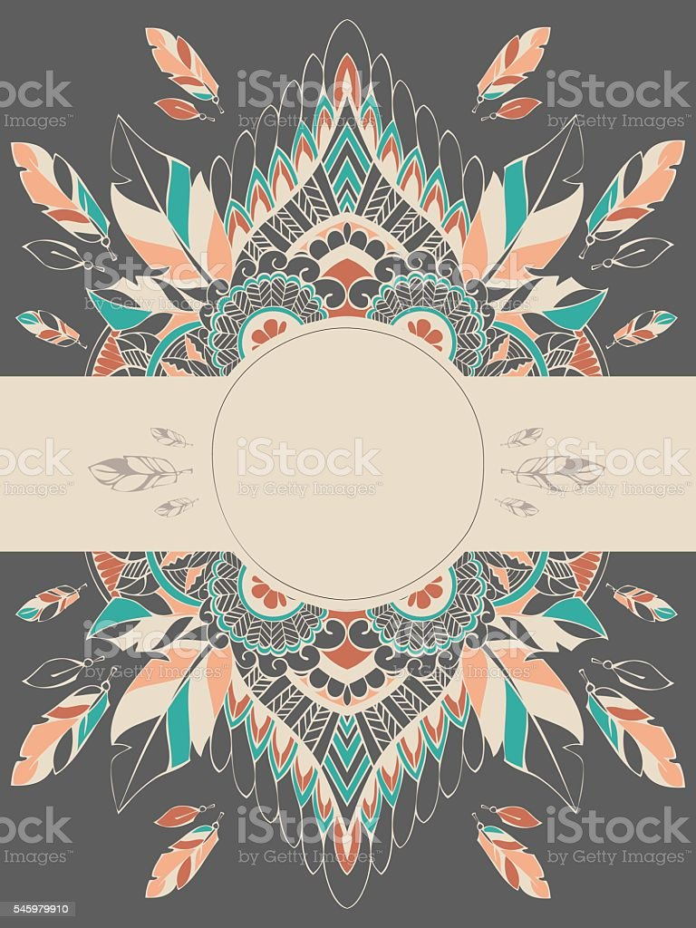dreamcatcher3 vector art illustration
