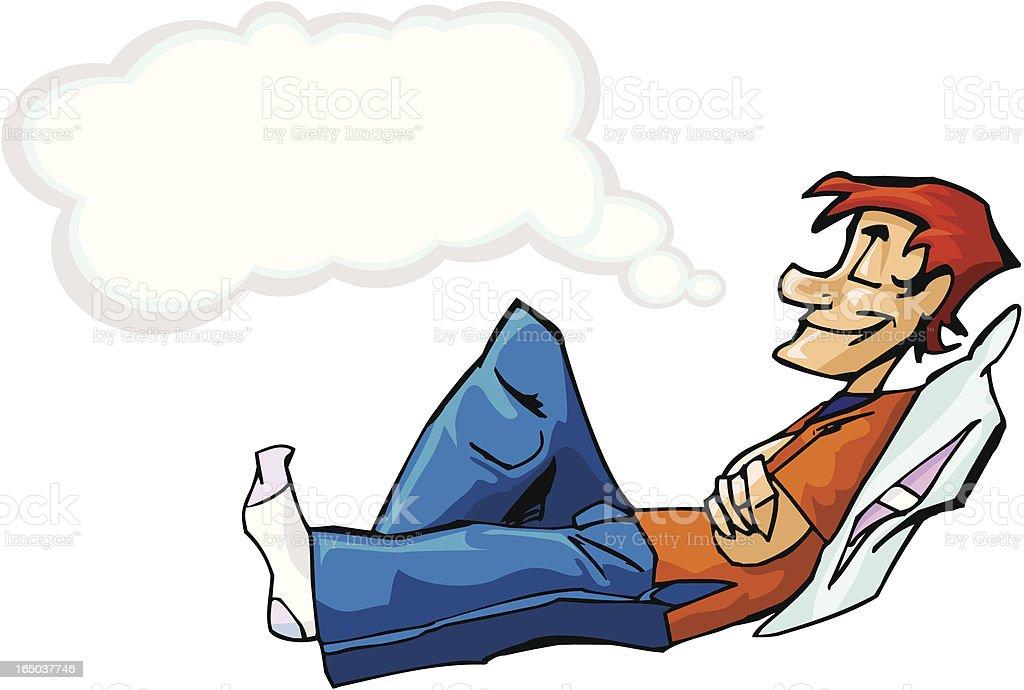 Dreamer Man vector art illustration