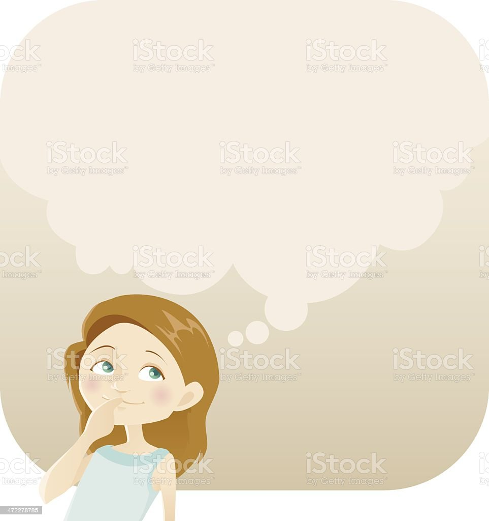 Dreaming Girl royalty-free stock vector art