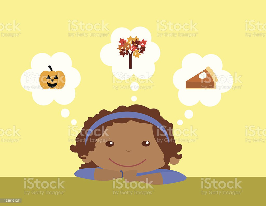 Dreaming of Fall royalty-free stock vector art
