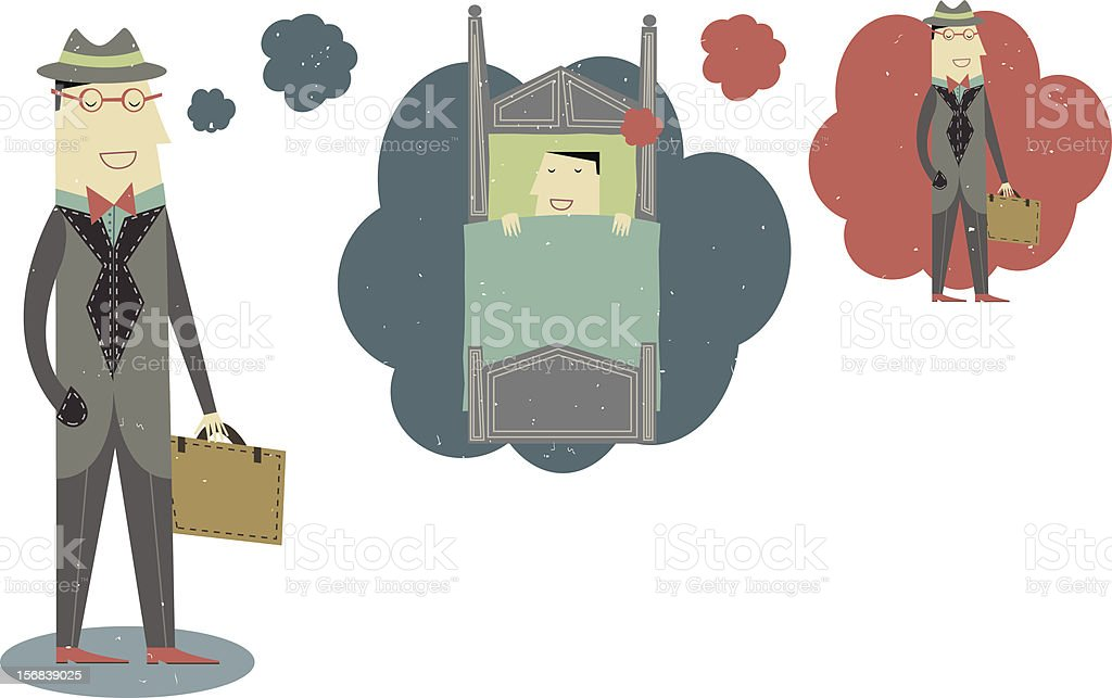 Dreaming Of Work royalty-free stock vector art