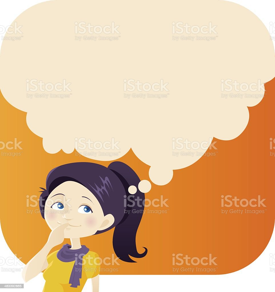 Dreaming Young Woman royalty-free stock vector art