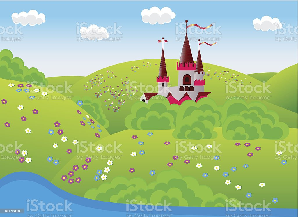 dreamlike landscape royalty-free stock vector art