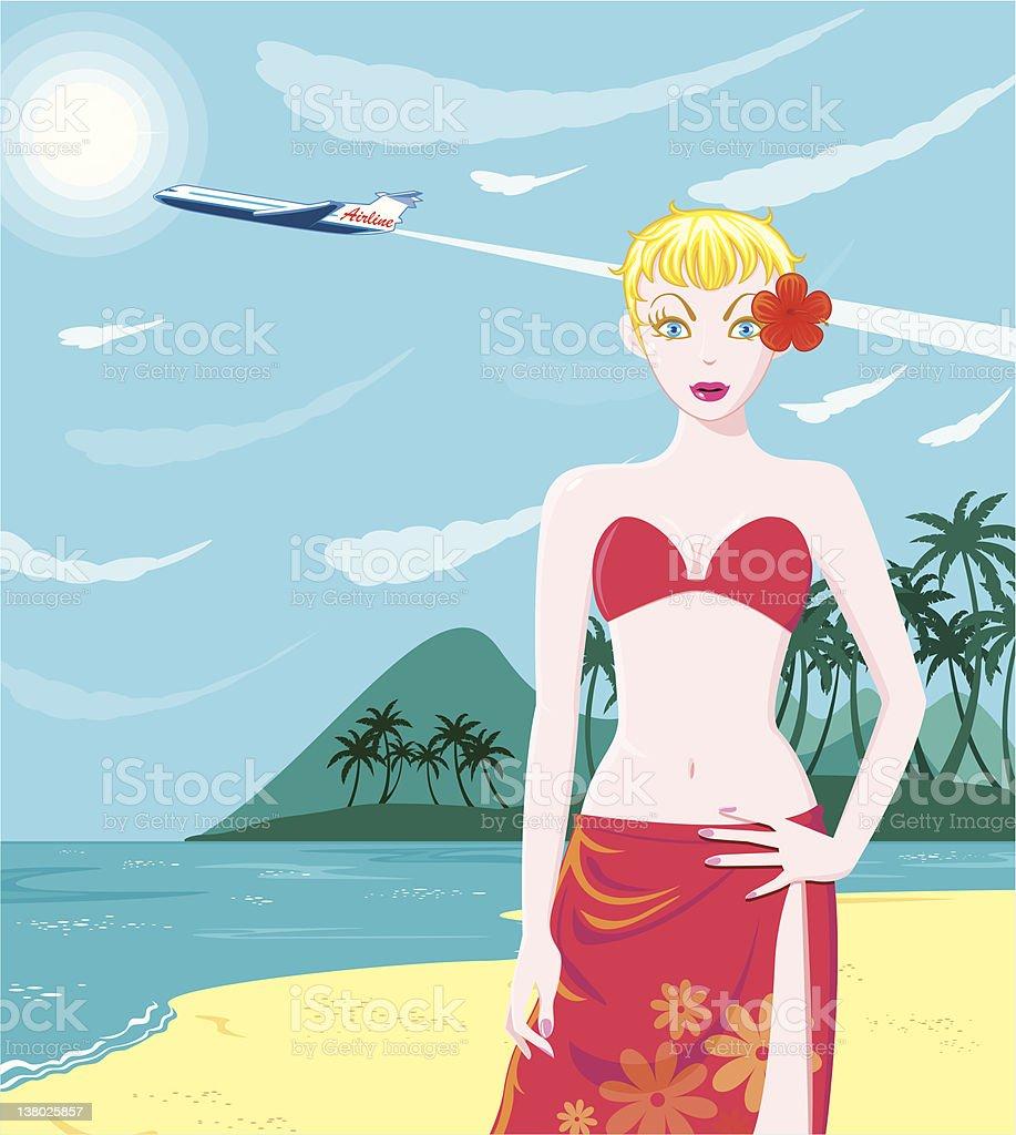 DreamLover - Summer Beach vector art illustration