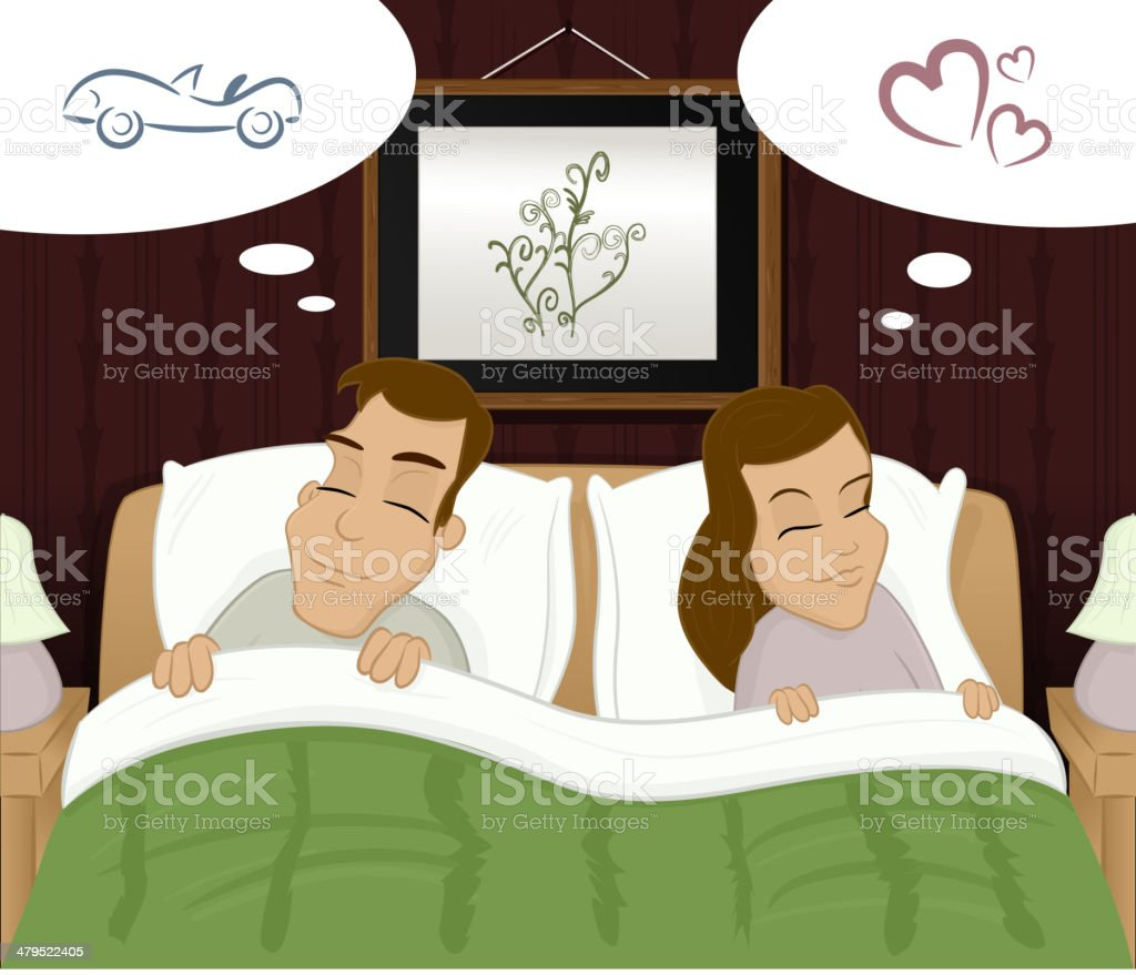 Dreams vector art illustration