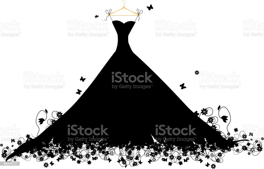 Dress black on hander, vector illustration vector art illustration