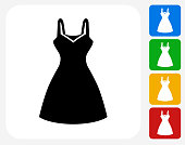 Dress Icon Flat Graphic Design