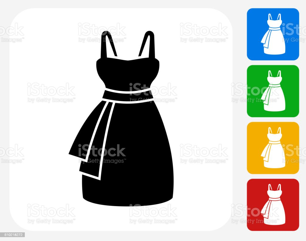 Dress Icon Flat Graphic Design vector art illustration
