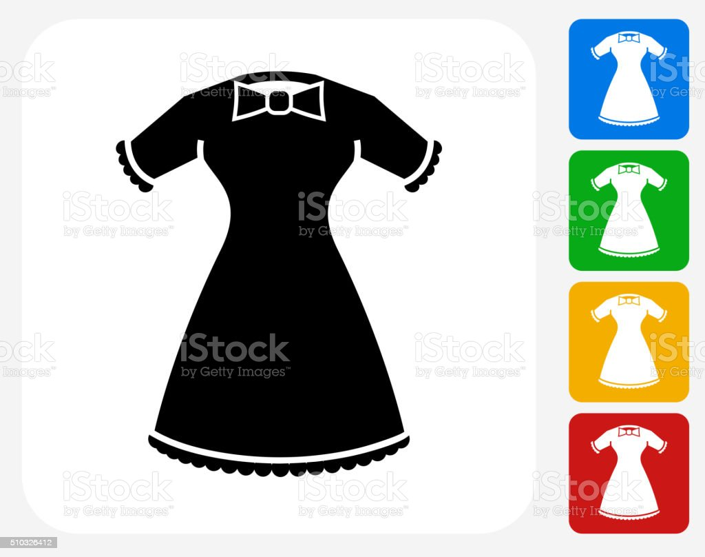 Dress Icon Flat Graphic Design vector art illustration