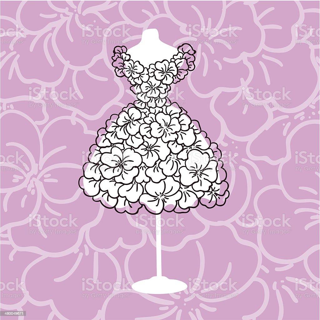 Dress mannequins vector art illustration
