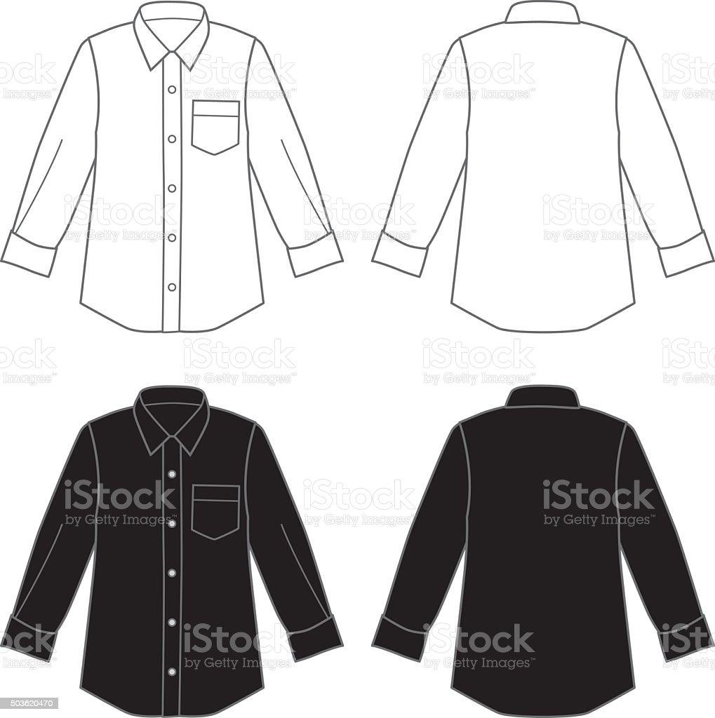 Dress Shirts vector art illustration