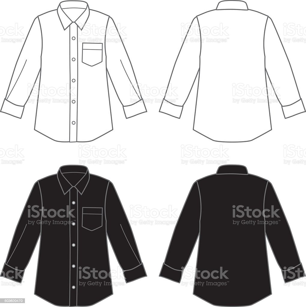 Dress Shirts vector art illustration