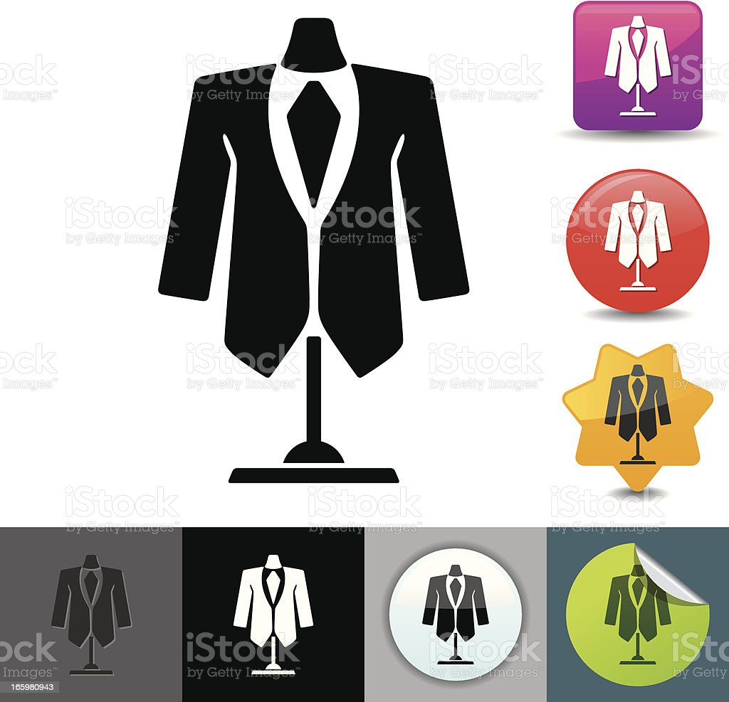 Dress suit icon | solicosi series royalty-free stock vector art