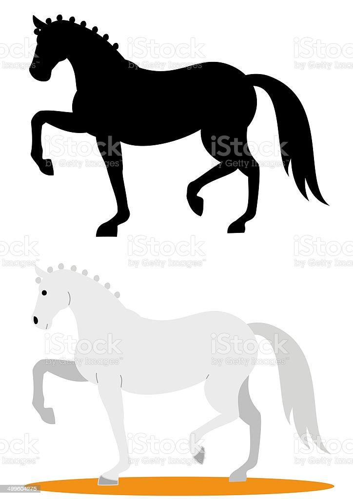 dressage horse vector art illustration