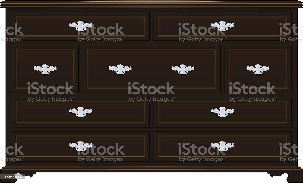 Dresser vector art illustration