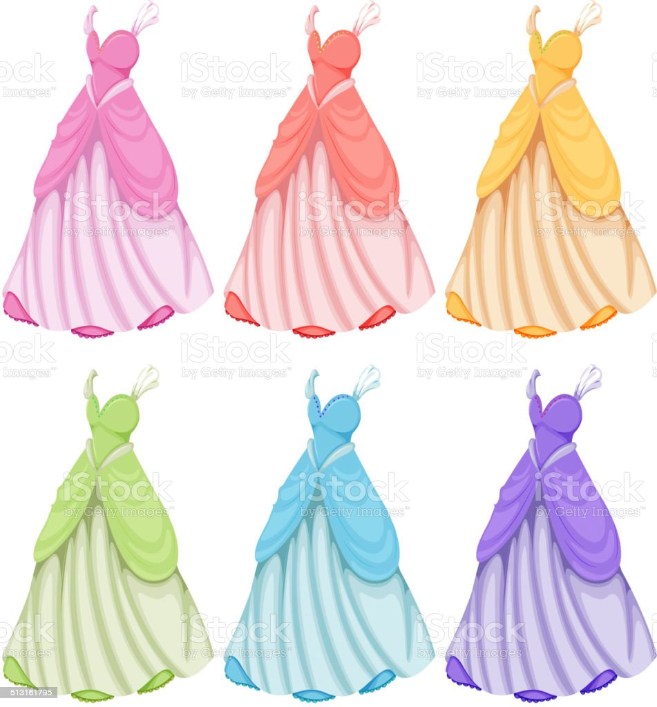 Dresses vector art illustration
