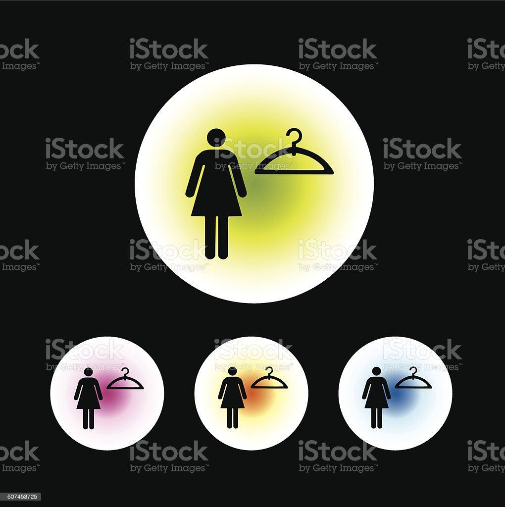 dressing room symbol vector art illustration