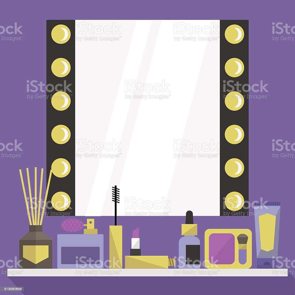 Dressing room table vector art illustration