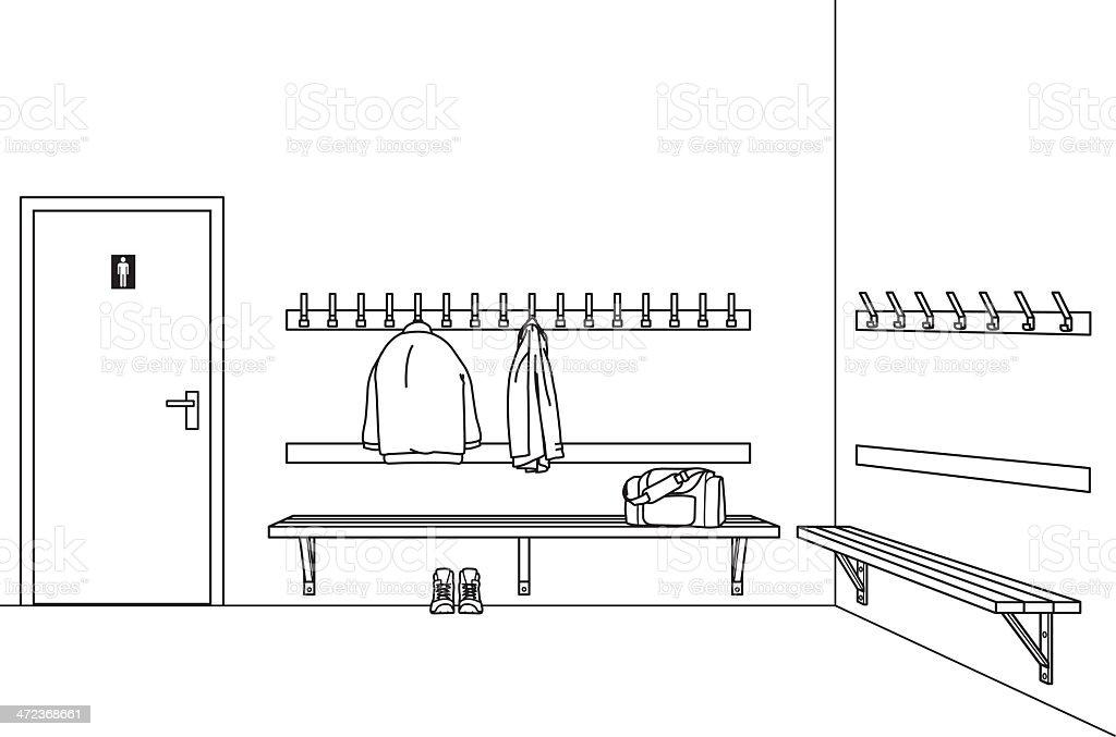 dressing room vector art illustration