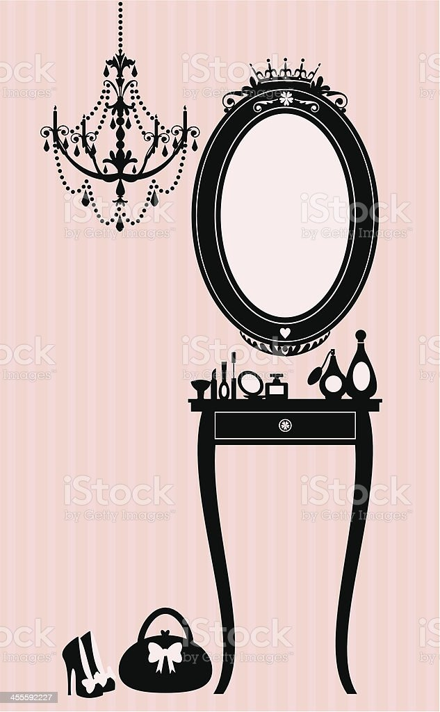 Dressing Table royalty-free stock vector art