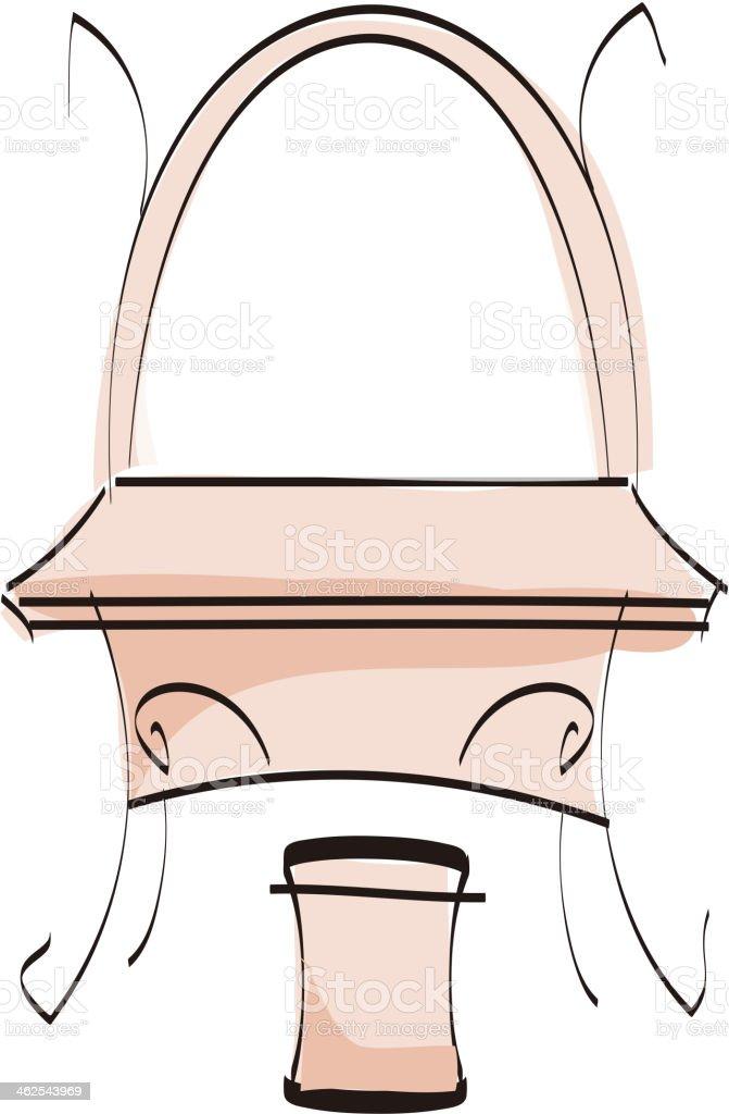 Dressing table vector art illustration