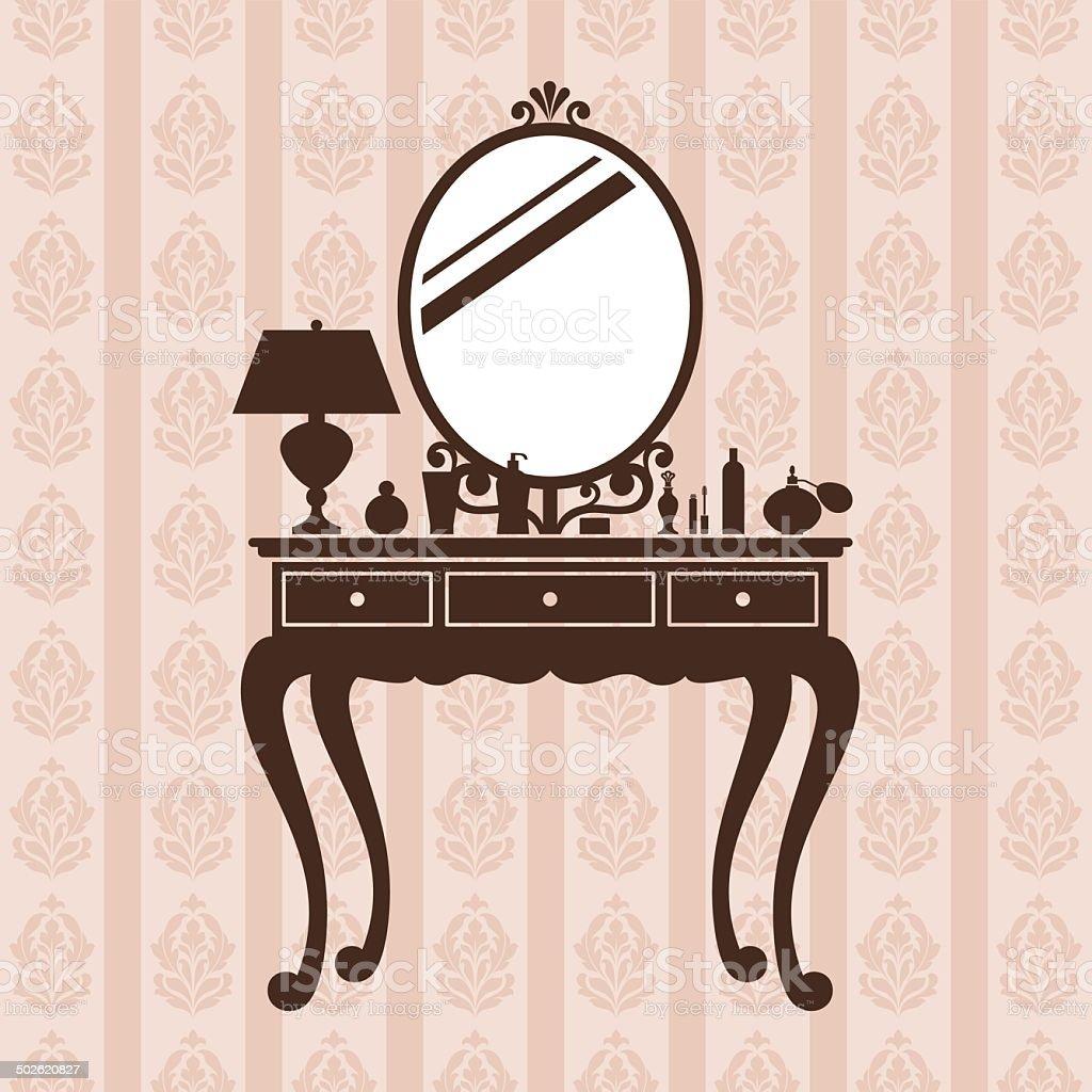 Dressing table. vector art illustration