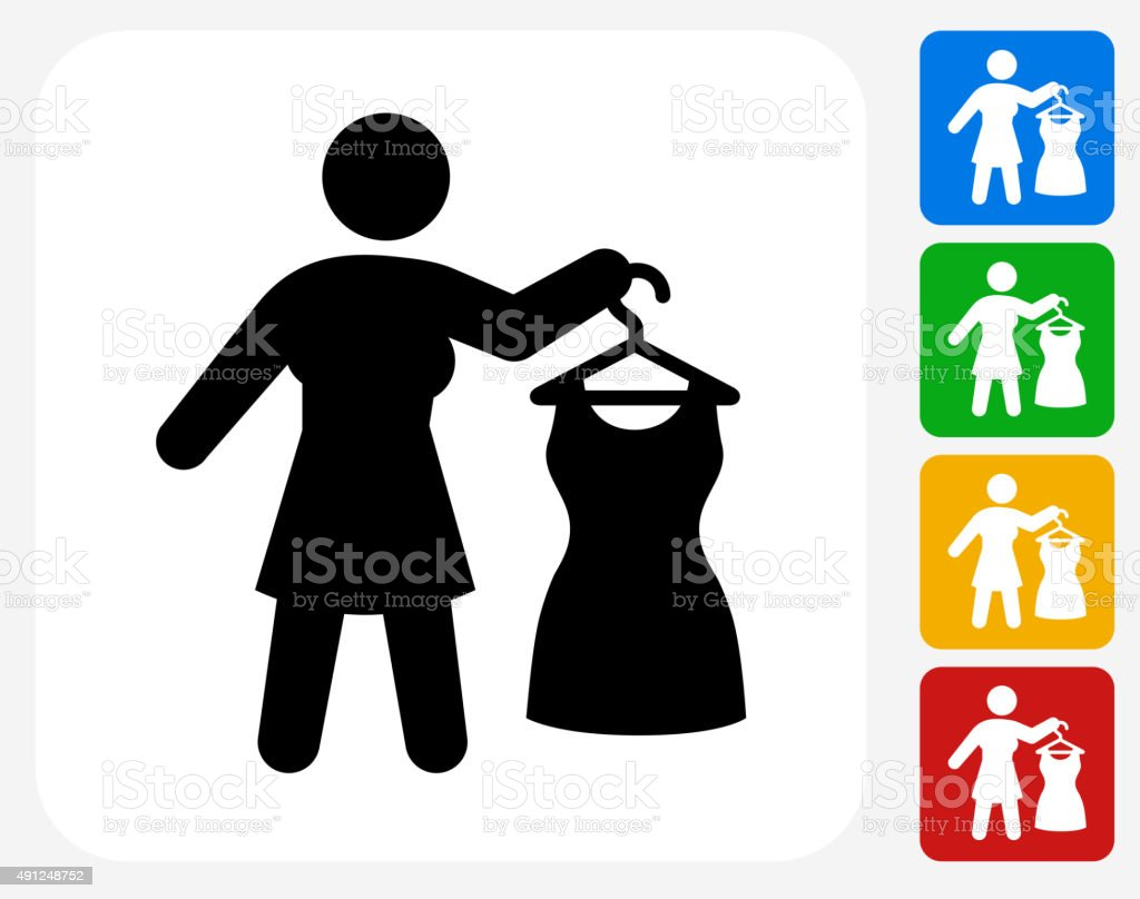 Dressing Up Icon Flat Graphic Design vector art illustration