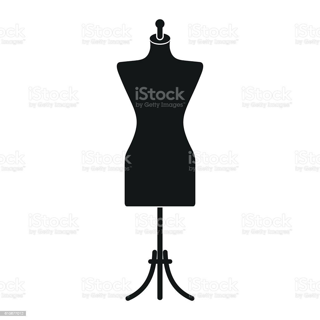Dressmaker model icon vector art illustration
