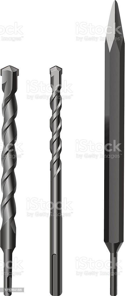 drill bits royalty-free stock vector art