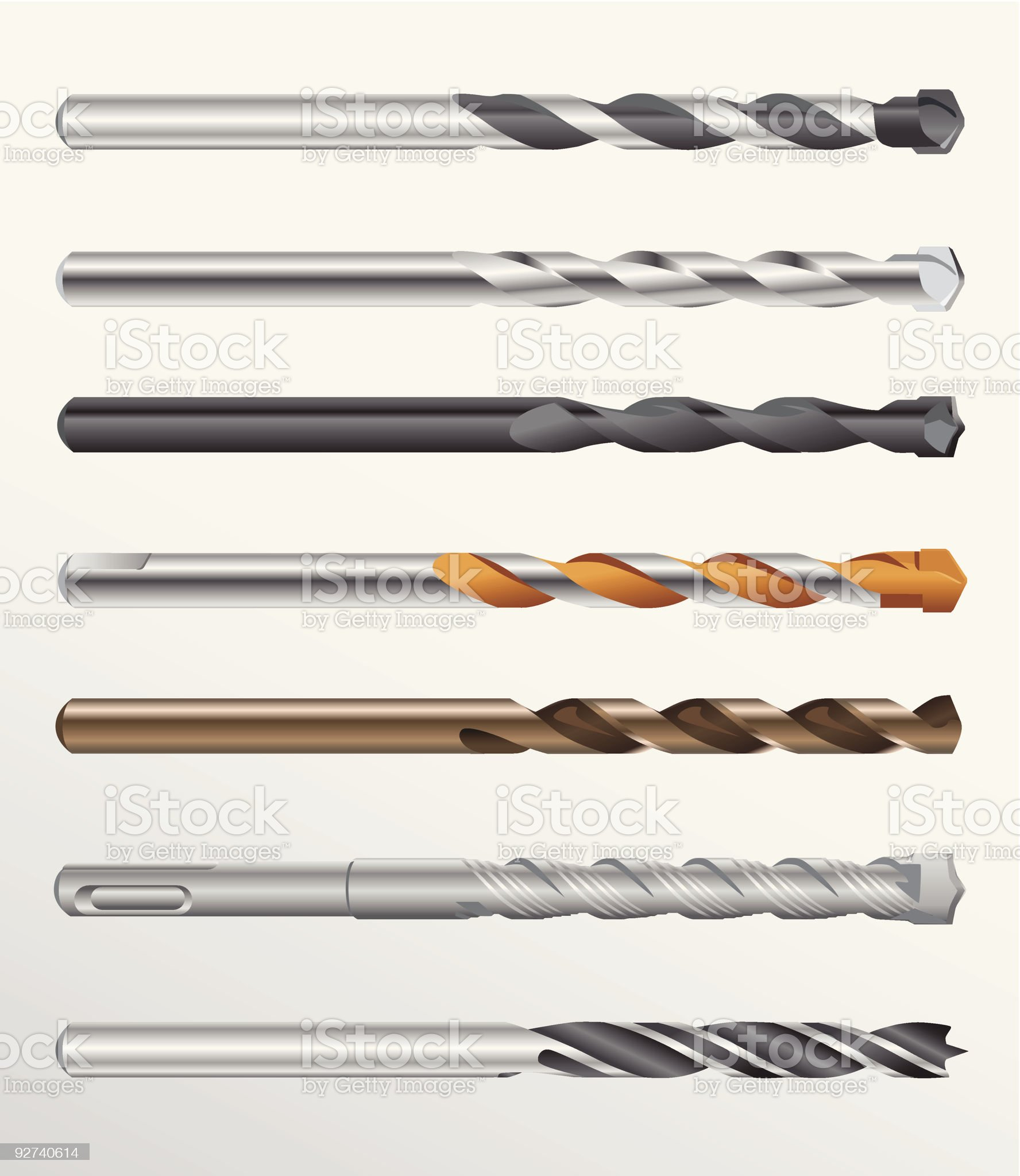 Drill bits royalty-free stock vector art