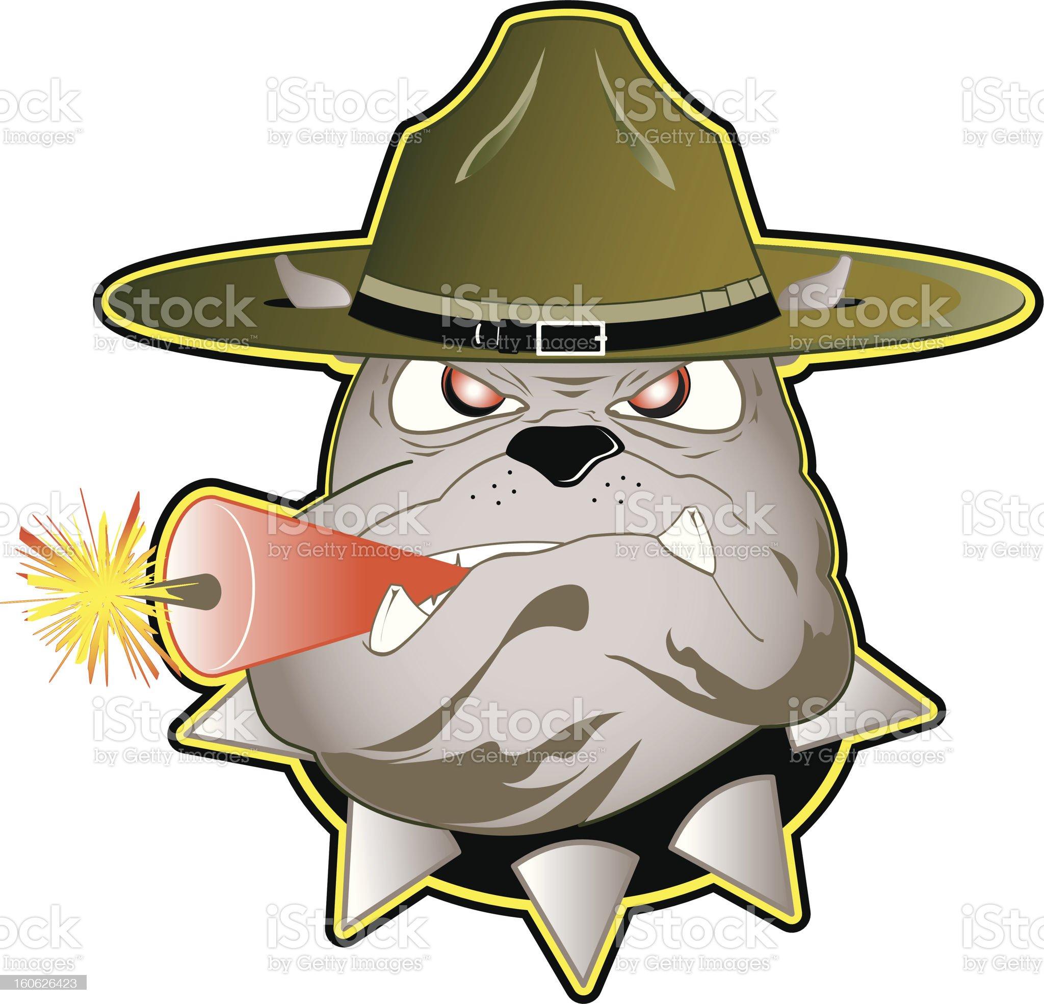 Drill Dog royalty-free stock vector art