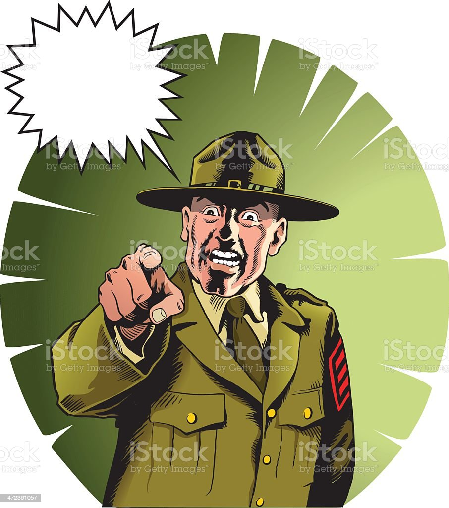 Drill Sergeant royalty-free stock vector art