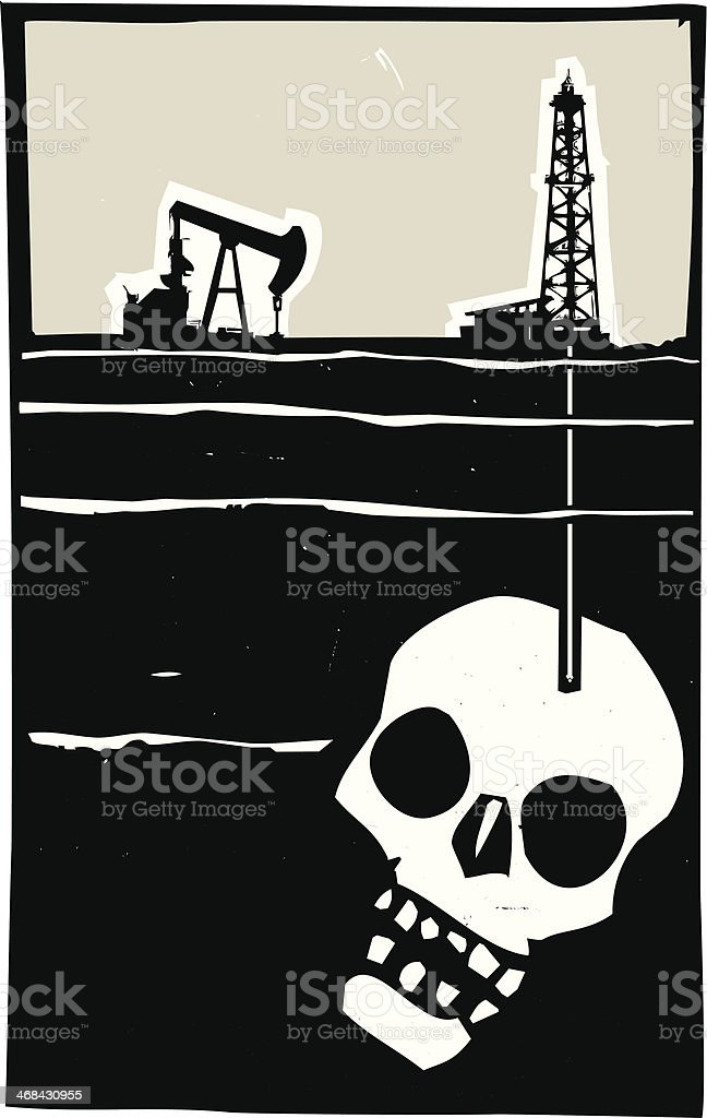 Drilling for Death vector art illustration
