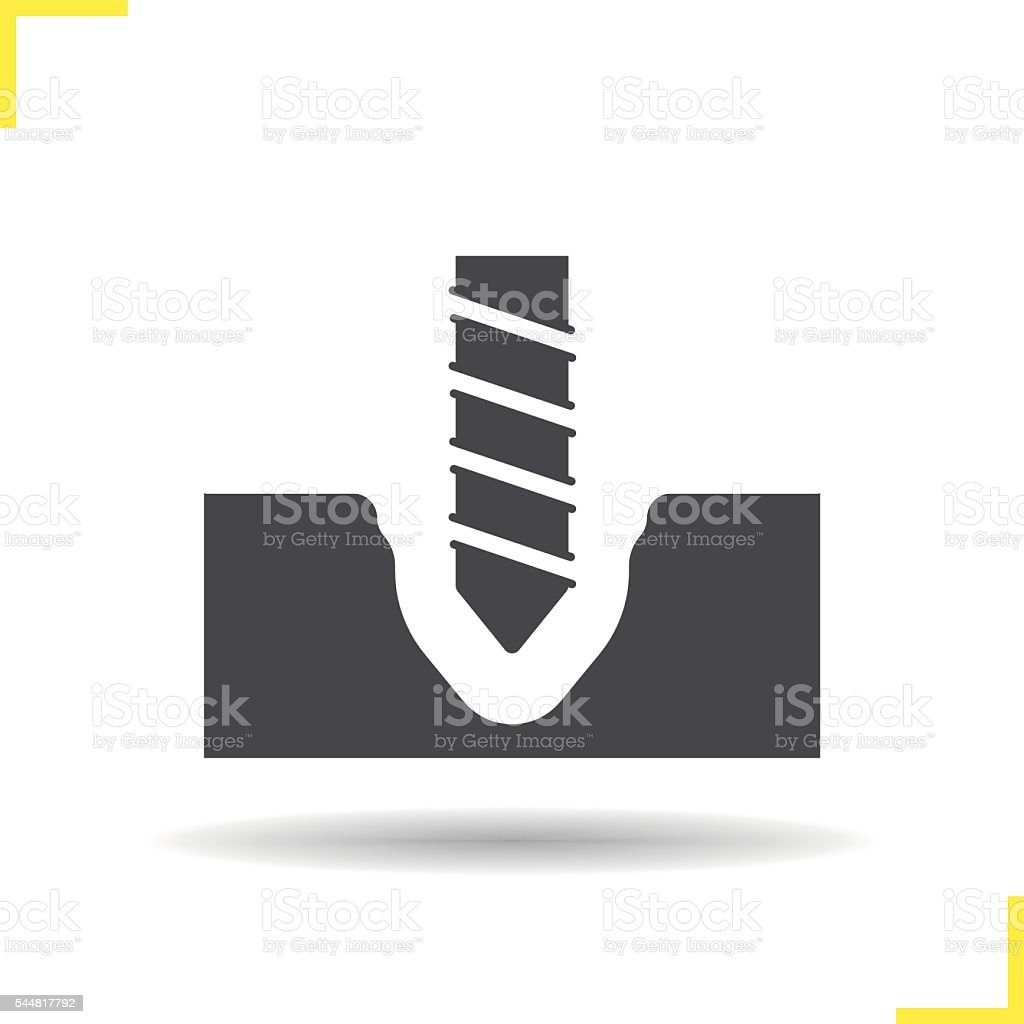 Drilling icon vector art illustration