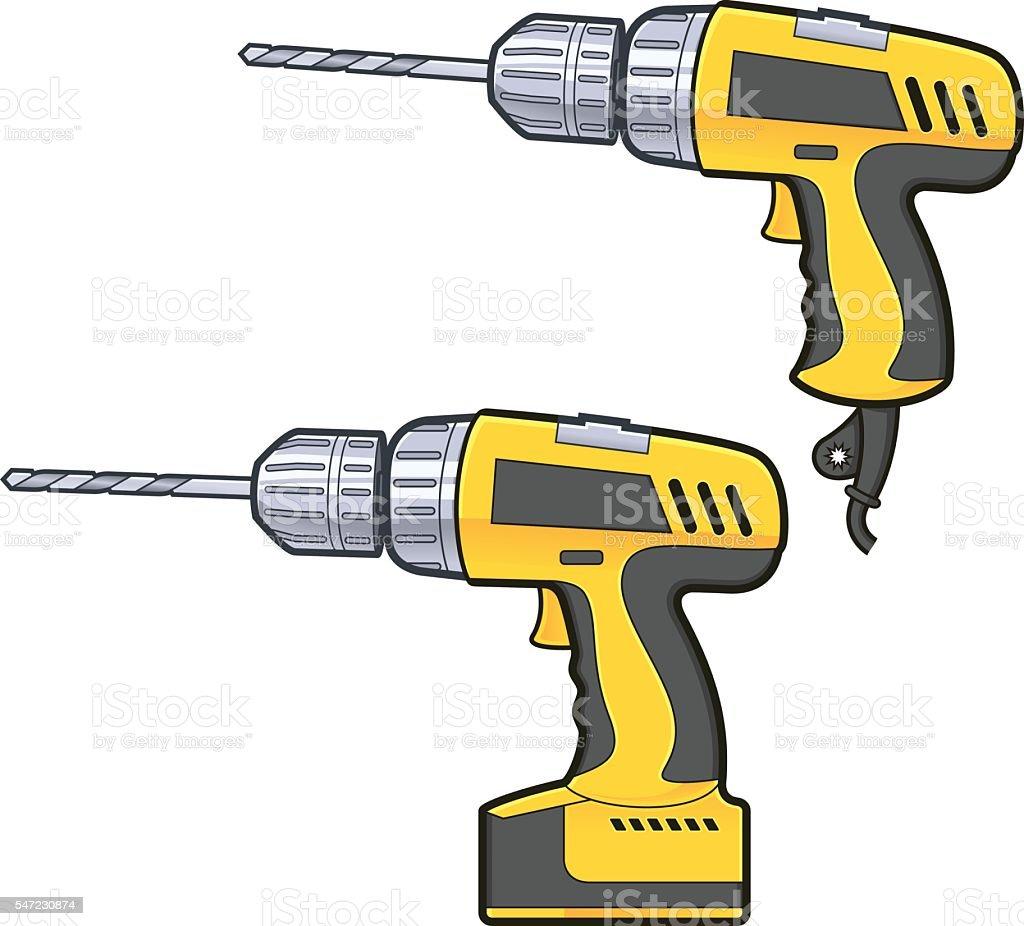 Drilling machine vector art illustration