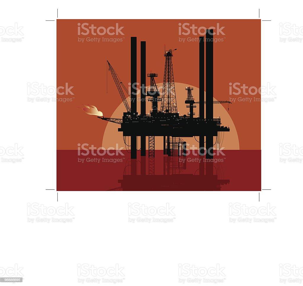 drilling platform royalty-free stock vector art
