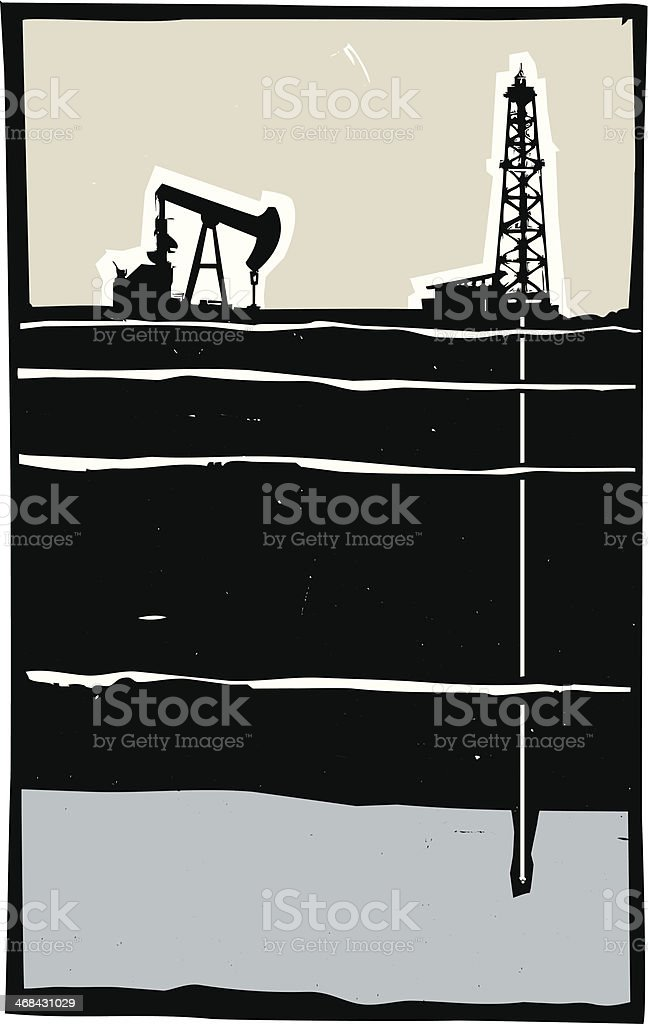 Drilling vector art illustration