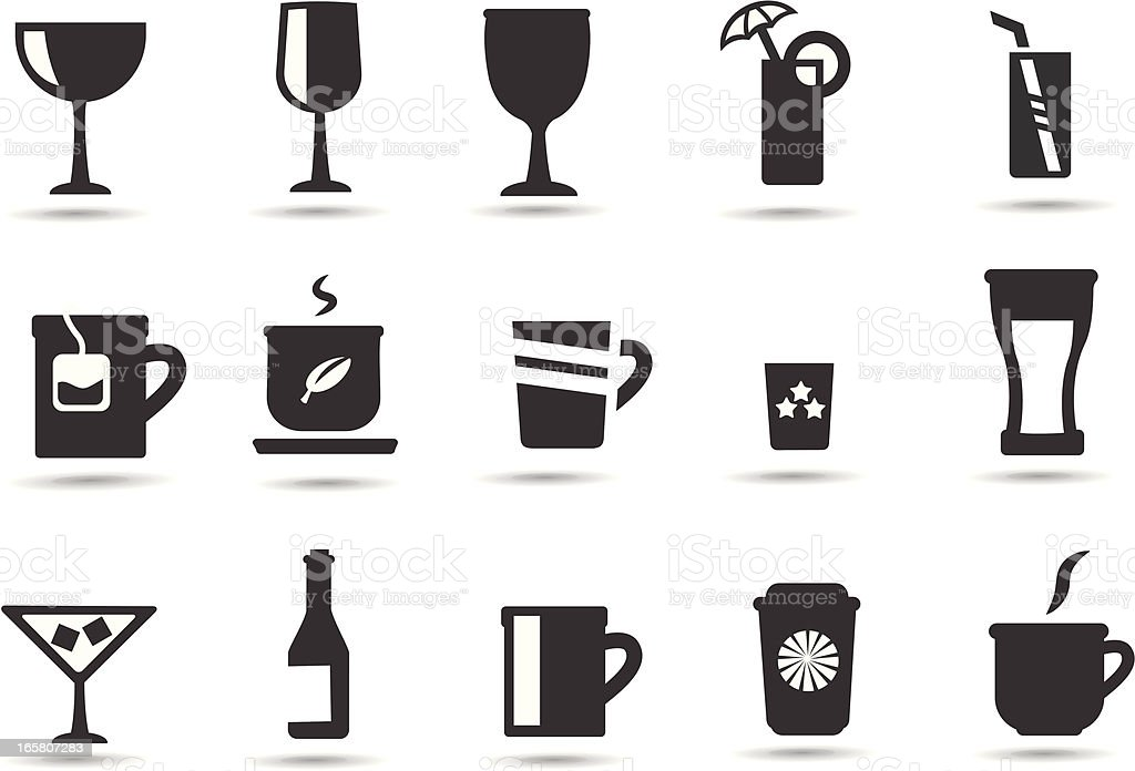 Drink, Beverage Icons royalty-free stock vector art