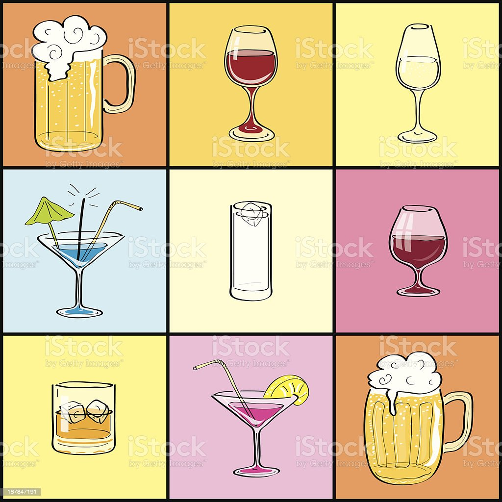 Drink Collection royalty-free stock vector art