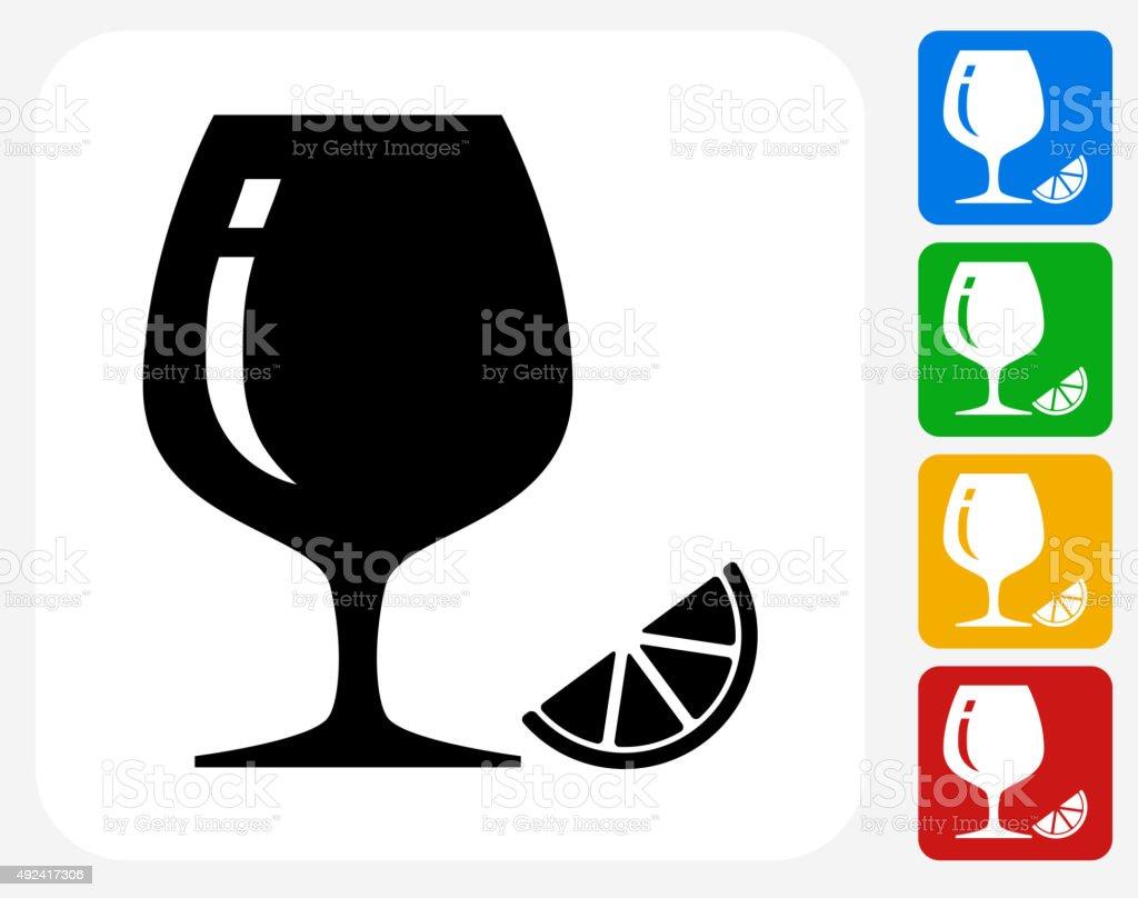 Drink Glass Icon Flat Graphic Design vector art illustration