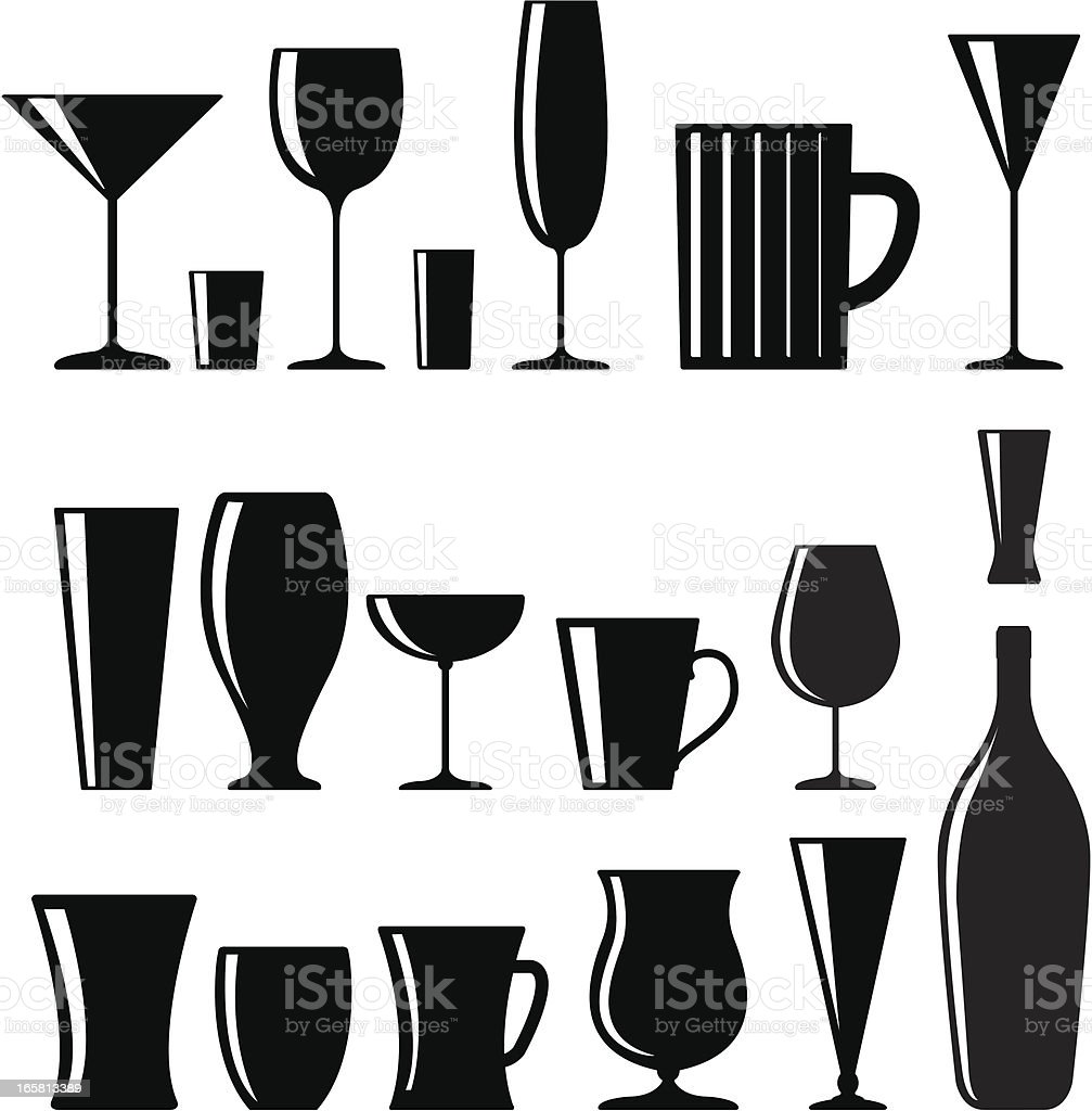 Drink glasses royalty-free stock vector art