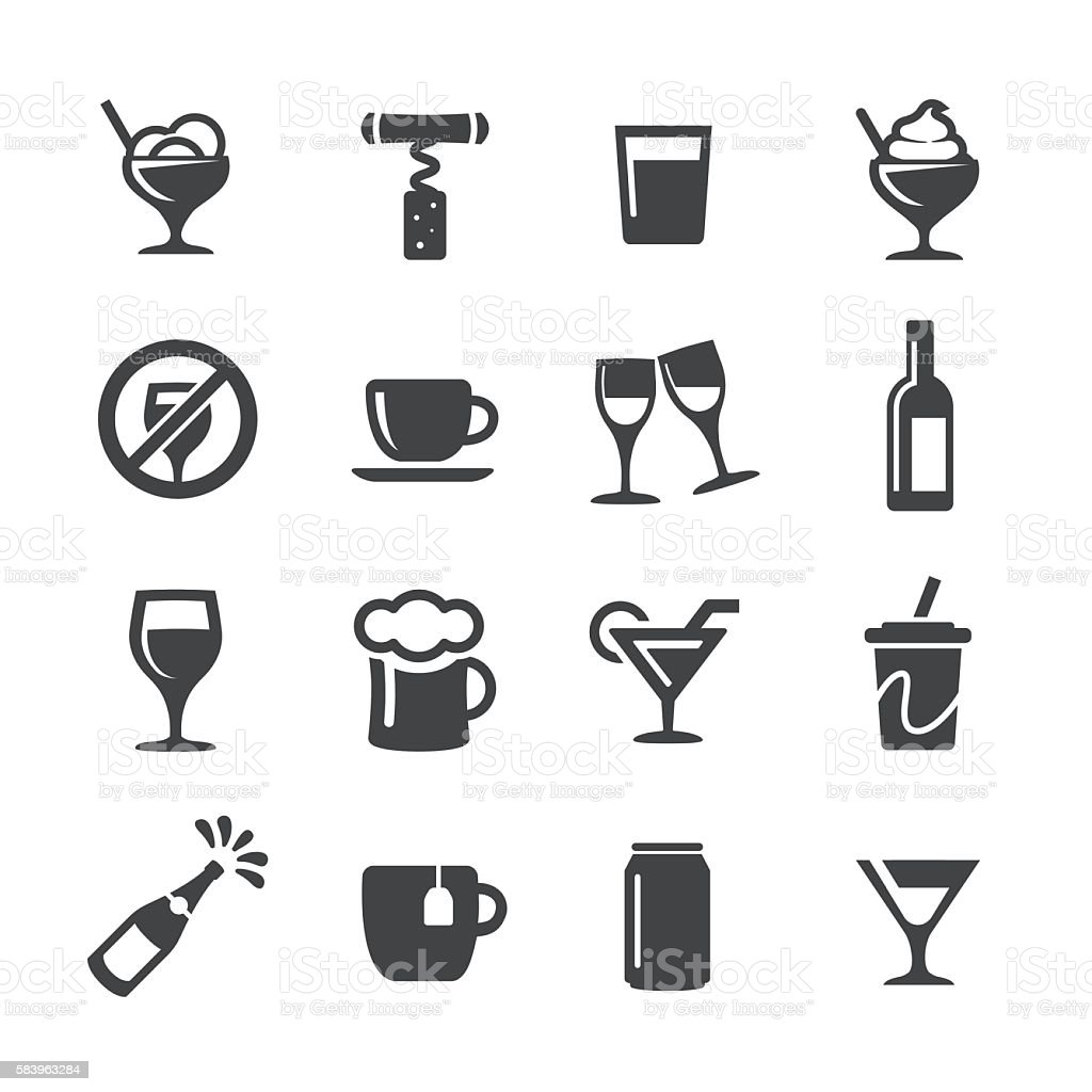 Drink Icons - Acme Series vector art illustration