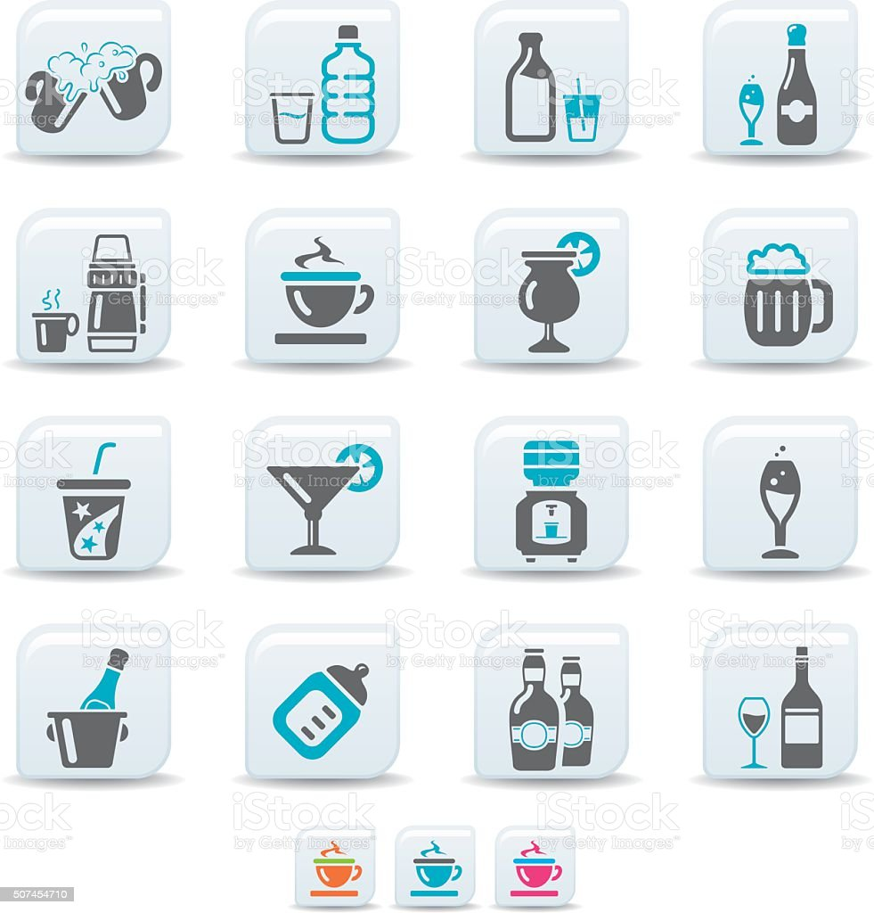 drink icons | simicoso collection vector art illustration