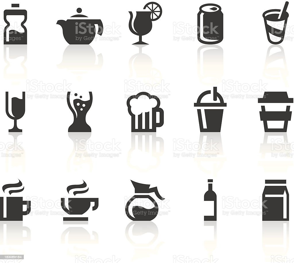 Drink Icons | Simple Black Series royalty-free stock vector art