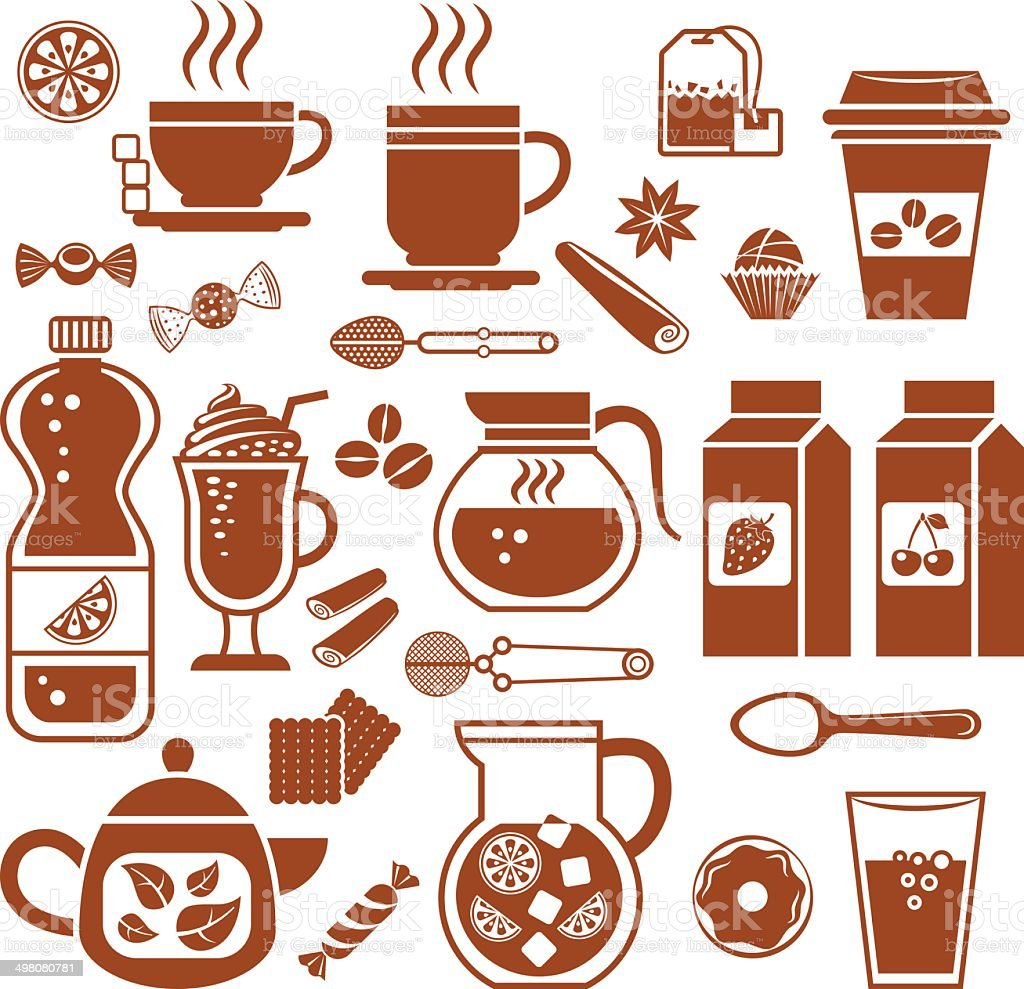 Drink icons. royalty-free stock vector art