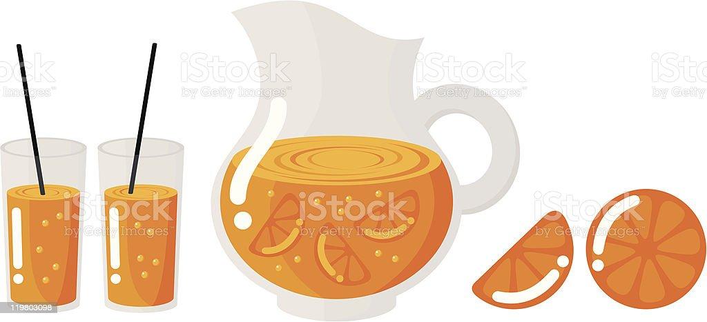 drink of orange royalty-free stock vector art
