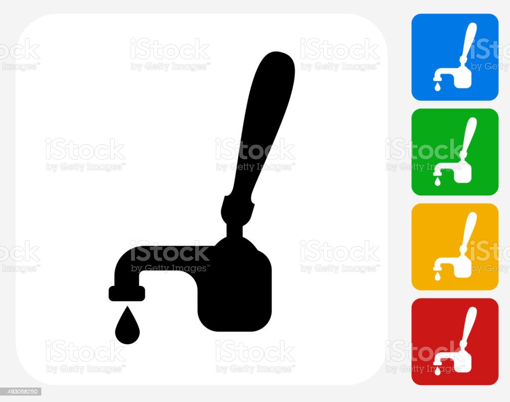 Drink on Tap Icon Flat Graphic Design vector art illustration